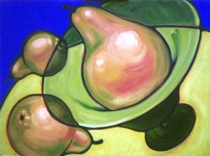 3 Pears in Orbit 48x36