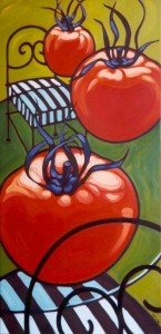 Tomatoes over Table 30x60